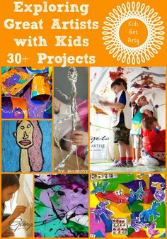Explore the Great Artists with your Children. A great way to learn together and have appreciate Art in a simple way. Here are 30 GREAT projects to do with your kids.