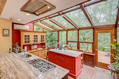 A kitchen with a greenhouse found in a retro 1950s home in New Jersey [OC][1440x960]