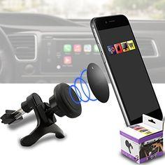 IWIO Car Mount Grip Magic Mobile Phone Cradle Air Vent Magnetic Phone Holder Universal Car Mount for Gigabyte Gsmart M3447