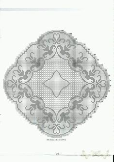 Filet Crochet Charts, Crochet Stitches Patterns, Crochet Designs, Embroidery Patterns, Stitch Patterns, Crochet Tablecloth, Crochet Doilies, Crochet Lace, Cross Stitch Kits
