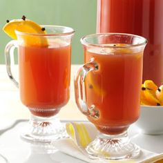 Holiday Wassail. I want to make this for the holidays!  I would use brown sugar instead of white and add some whole allspice.