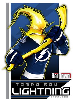 Our good friend #EPoole88 (Eric Poole) is getting ready for the upcoming season with cartoon renderings of each team. This is the Tampa Bay Lightning. #TSN #BarDown
