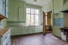 Kök i hus byggt 1916 på Onsala.