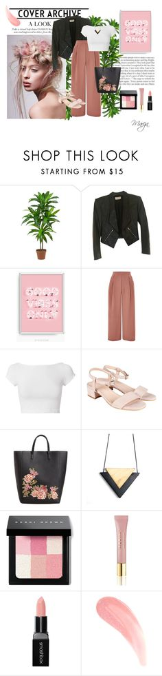 """August 27th, 2017"" by starshinebeauty ❤ liked on Polyvore featuring Nearly Natural, Yves Saint Laurent, Topshop, Helmut Lang, MANGO, Bobbi Brown Cosmetics, AERIN and Smashbox"