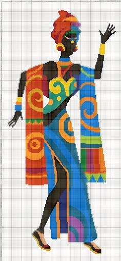 Buy 1 Get 1 Free Coupon African Dance Art Cross Stitch Pattern Counted Cross Stitch Chart P Geek Cross Stitch, Funny Cross Stitch Patterns, Cross Stitch Charts, Cross Stitch Designs, Cross Stitching, Cross Stitch Embroidery, Subversive Cross Stitches, African Dance, Knitting Stitches