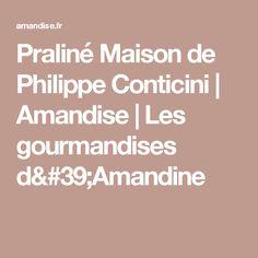 Praliné Maison de Philippe Conticini   Amandise    Les gourmandises d'Amandine
