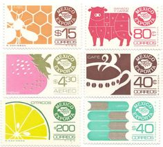 colorful stamps :: i love these... why can't the US Postal System give us something cute like this?