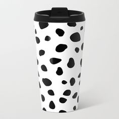 $24.99 In addition to a 360-degree wraparound design, our metal travel mugs are crafted with lightweight stainless steel, double-walled to keep drinks hot (or cold). #mug #travel #coffee #tea #home #decor #dog #animals #pattern #spots #dots #pet #puppy #Dalmatian #black #white #modern #creative #abstract #buyart #society6 #gift #giftideas