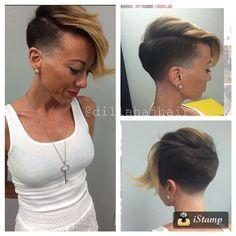 Mutha-fuckin chick fade on the super radical magical clavicle @julia_foronda ... #hair #haircut #hairstyle #hairstylist #shorthair #shorthaircut #shorthairstyle #chickfade #taper #fade