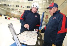 Old Friends In A New Game: Jeff Sauer And Mike Sertich coach sled hockey Sled Hockey, A Decade, News Games, Old Friends, Retirement, Coaching, Legends, High School, How To Remove
