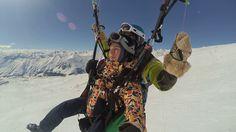 033546  gudauri paragliding полет гудаури skyatlantida com გუდაურში პარა... Mount Everest, Mountains, Bergen
