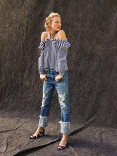 The (Super) Classics | The Point Sur Boyfriend Jean | In premium, made-in-LA denim with chic oversized cuffs—wear it with a classic blazer or a fun cold-shoulder top.