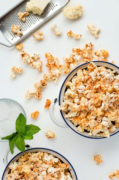 Spicy Parmesan Party Popcorn - the fastest, cheapest snack for parties!/ Recipe Tin Eats/