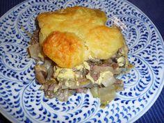 Ovenschotel met witlof, gehakt en (kastanje)champignons Quiche Lorraine, Quiches, Casserole, Nom Nom, Beef, Chicken, Dinner, Recipes, Yum Yum