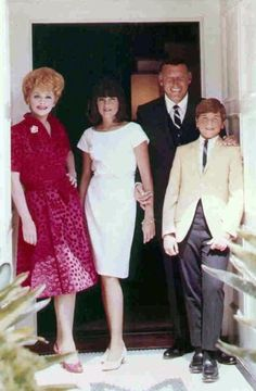 Lucille Ball, Gary Morton, Lucie Arnaz, and Desi Arnaz, Jr. at their Beverly Hills home. I Love Lucy Show, My Love, Classic Hollywood, Old Hollywood, Hollywood Icons, Vivian Vance, Lucille Ball Desi Arnaz, Lucy And Ricky, Queen