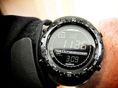 All black Military X-Lander by Suunto.