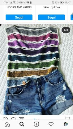 Easy Crochet, Crochet Top, Summer Knitting, Crochet Clothes, Style Me, Street Style, Crop Tops, Pattern, Sweaters