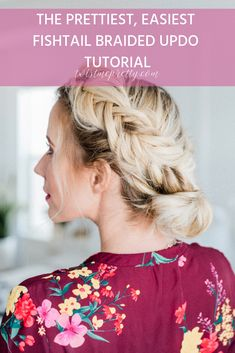 Beautiful Fishtail Braided Updo Tutorial - Twist Me Pretty Fishtail Braided Updo Tutorial with Twist me pretty. I'm going to walk you through, step-by-step to creating the perfect fishtail braided updo. Braided Updo Tutorial, Easy Fishtail Braid, Braid Tutorials, Braided Hairstyles Updo, Updos, Fringe Hairstyles, Updo Hairstyle, Holiday Hairstyles, Trending Hairstyles