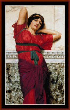 Contemplation - Godward cross stitch pattern by Cross Stitch Collectibles