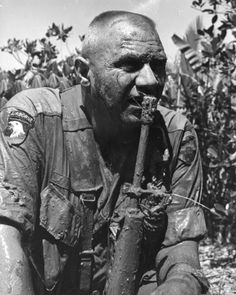 Col. John Geraci, commander of 1st Brigade, 9th Infantry Division, US Army, after his C helicopter was shot down. None of the crew or passengers were killed.