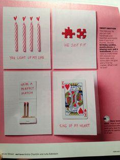 valentines jigsaw card