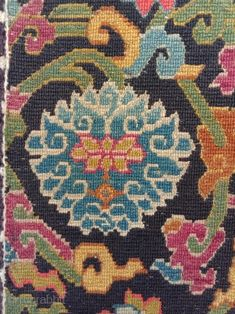 early c lama seat , best quality super tight weave, very good condition. Tibetan Rugs, Needlepoint, Istanbul, Weave, Conditioner, Asia, Fabrics, Textiles, Kids Rugs