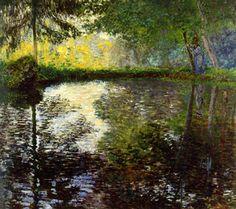 Claude Monet - El estanque en Montgeron (1876) Museo Hermitage