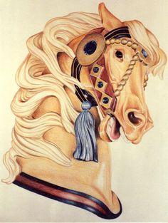 Golden Carousel Horse