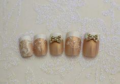 Bridal nail nail art for spring weddings!