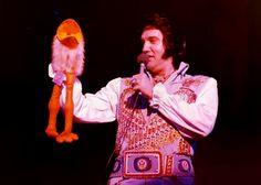 Elvis in concert at Lake Tahoe casino may 1976.