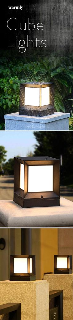 Waterproof Outdoor Cube Lights Informations About Lore - Modern Nordic Waterproof LED Cube Lamp Pin. Lighting Your Garden, Backyard Lighting, Outdoor Lighting, House Lighting, Exterior Lighting, Modern Lighting, Garden Types, Solar Lights, Fairy Lights