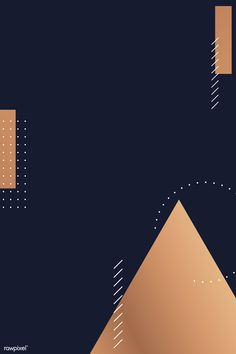 Modern copper geometric pattern on a blue background vector | premium image by rawpixel.com