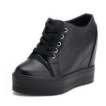 New 2015 Platform Wedges Shoes for Women Fashion Round Toe Women Wedges Ladies Casual Platform Shoes Women Pumps(China…