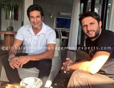 - Time now for some #ThrowbackThursday. #WasimAkram and #ShahidAfridi meeting up for lunch and talks a few months back.