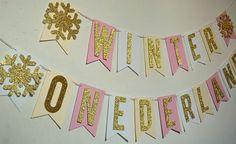 Winter Onederland 1st Birthday Party Banner by PopFizzHooray