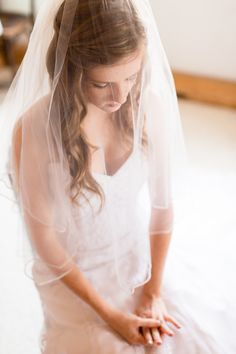 Bride with blusher in Bend Oregon Wedding photographer at Wallace Ranch by TréCreative Film&Photo http://trecreative.com/