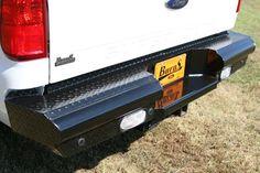 Fab Fours - Rear Ranch Bumper in Black Powder Coat - Fits 1999 to 2015 Ford Super Duty F250-F550 - 4WheelParts.com