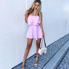 Swans Style is the top online fashion store for women. Shop sexy club dresses, jeans, shoes, bodysuits, skirts and more. Zara Dresses, Cute Dresses, Summer Outfits, Summer Dresses, Beach Dresses, Light Dress, Romper Dress, Tie Dress, Instagram Outfits