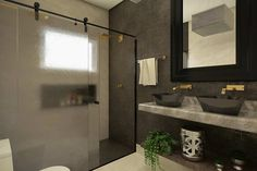 Home Design Plan Meters - Modern Architecture House Styles, Modern House Facades, Lighted Bathroom Mirror, House, House Front Design, Home Design Plan, Home Design Plans, Framed Bathroom Mirror, Modern House
