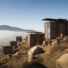 Compact Eco-Casita at Hotel Endemico, Valle de Guadalupe (Baja's wine country) by Tijuana architect Jorge Gracia.