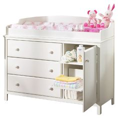 South Shore Cotton Candy 3 Drawer Changing Table 3250-333,    #South_Shore_3250-333