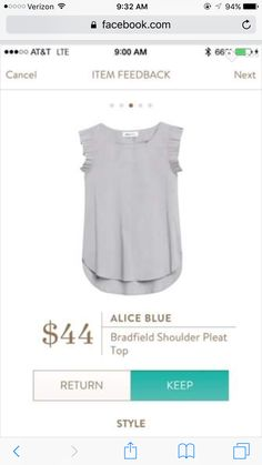Stitch fix stylist: love this, but need a different color. I already have a few shirts this color.