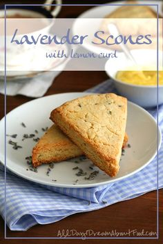 Lavender Scones with Lemon Curd - Low Carb and Gluten-Free