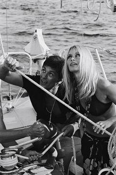 Brigitte Bardot with Alain Delon in Saint-Tropez, 1968. >> by Saintrop.com, the site of the nirvanesque Saint Tropez!