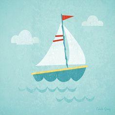 Making Waves - Sailboat   Caleb Gray, Oopsy Daisy