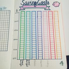 Bullet journal savings goals, money management. @petraplayer