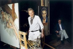 Lucian Freud in his Studio