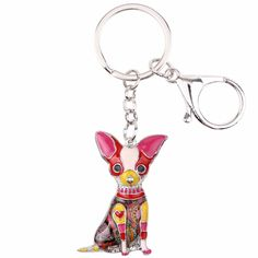 Multicolor Chihuahua Dog Key Ring (6 color options). 🐶 Online shopping for Little Dogs Supplies with free worldwide shipping.🐶 Be sure you follow for daily pics & offers! 🐶 #dogs #dogsofinstagram #dog #puppy #puppies #cutedogs #doglovers #pets #dogclothes #funnydogs Charm Rings, Key Chain Rings, Key Chains, Chihuahua Dogs, Chihuahuas, Dachshunds, Puppies, Whippet Dog, Gadget Gifts