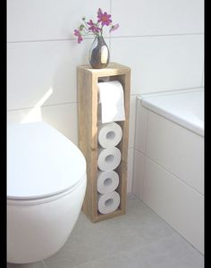 Toilet paper holder toilet paper rack toilet paper holder Klorollen holder Toilettenpapierhalter Toilettenpapierständer Klopapierhalter The post Toilet paper holder toilet paper rack toilet paper holder Klorollen holder appeared first on Wood Diy. Bathroom Storage, Bathroom Interior, Toilet Storage, Bathroom Stand, Mirror Bathroom, Bathroom Cabinets, Bathroom Vanities, Wc Decoration, Toilet Paper Stand