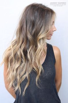 wow, really long and lovely bronde balayage